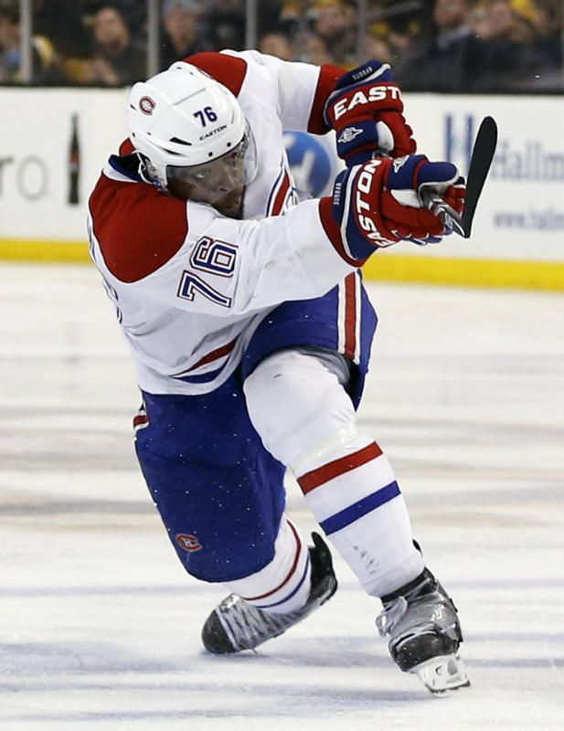 P.K. Subban, Montreal Canadiens. (I have to support my Black Hockey Players as there are not that many of us regardless of team. I am disgusted but not surprised by the racial slurs hurled at them during the games.)
