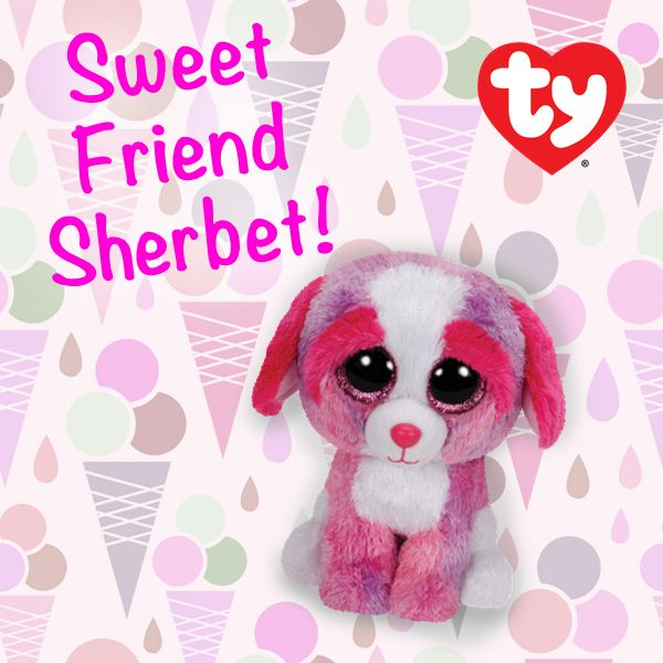 Sherbet is a NEW 2015 Beanie Boo, find her now in the online Ty Store