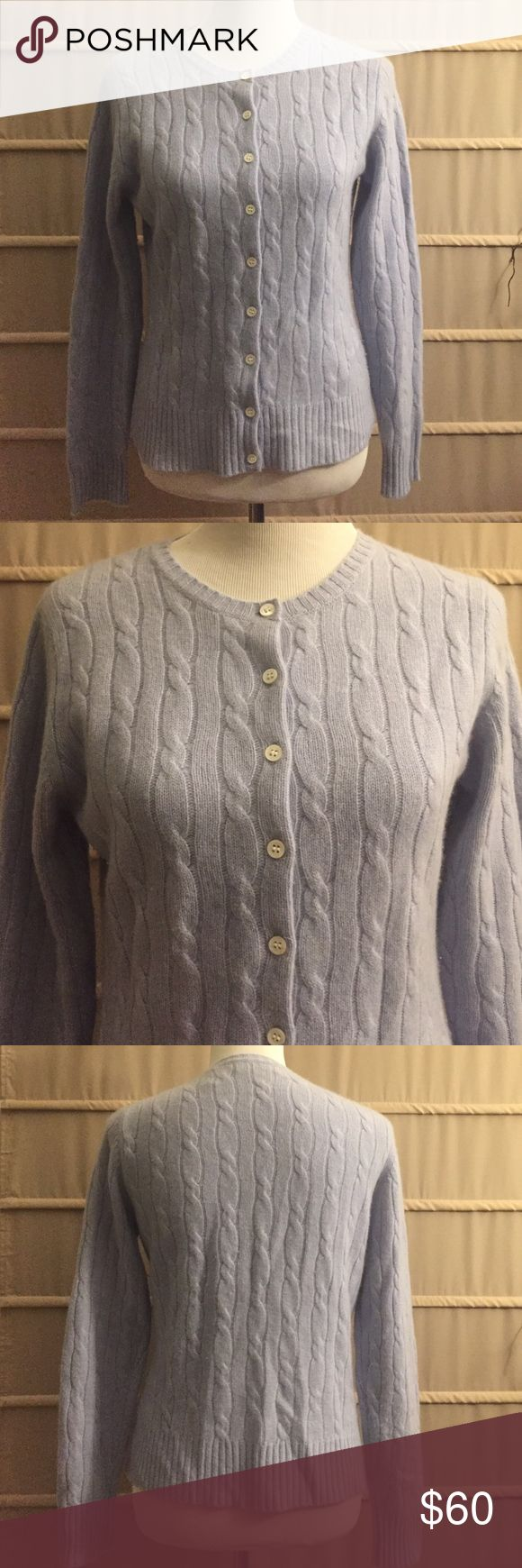 Lord & Taylor blue 2 ply cashmere sweater medium Oh so soft and luxurious! Lord & Taylor Sweaters Cardigans