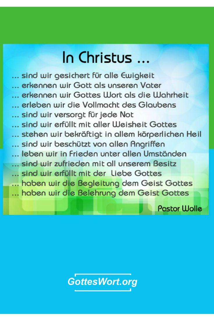 In Christus .... sind wir ... Weiterlesen: http://www.gottes-wort.com/in-christus.html  #gotteswort