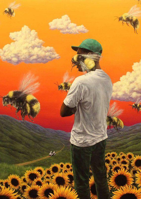 49c5062037757e Tyler the Creator Flower Boy Poster Hip Hop Artist poster canvas printing  wall decor print home dec