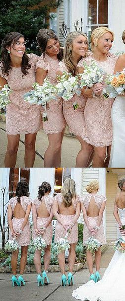 2016 bridesmaid dress, sexy bridesmaid dress, sheath bridesmaid dress, crew neck bridesmaid dress, pink bridesmaid dress, mini bridesmaid dress, short bridesmaid dress, discount bridesmaid dress, cheap bridesmaid dress, #2016 #pink #mini #cheap Women, Men and Kids Outfit Ideas on our website at 7ootd.com #ootd #7ootd