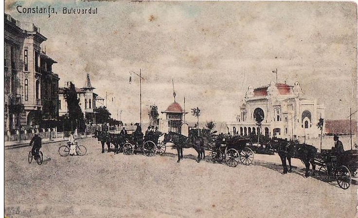 Constanta - Bulevardul Regina Elisabeta - antebelica