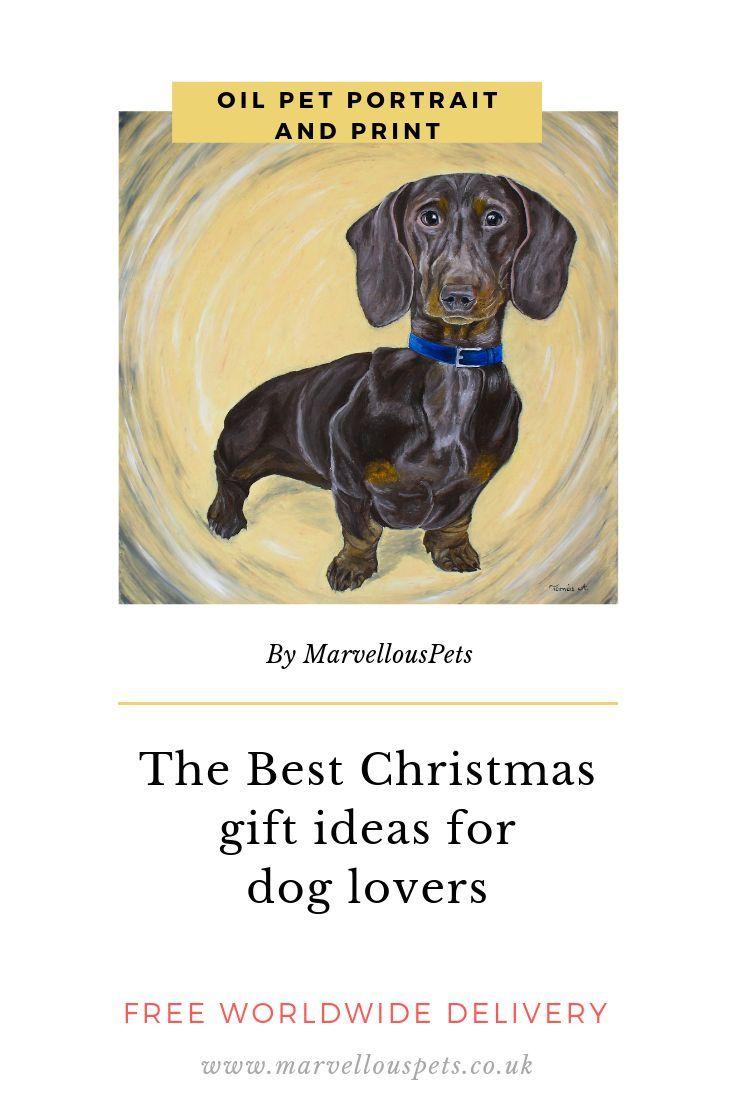 Custom Oil Pet Portrait Pet Loss Gifts Dog Lover Gift Dog Mom
