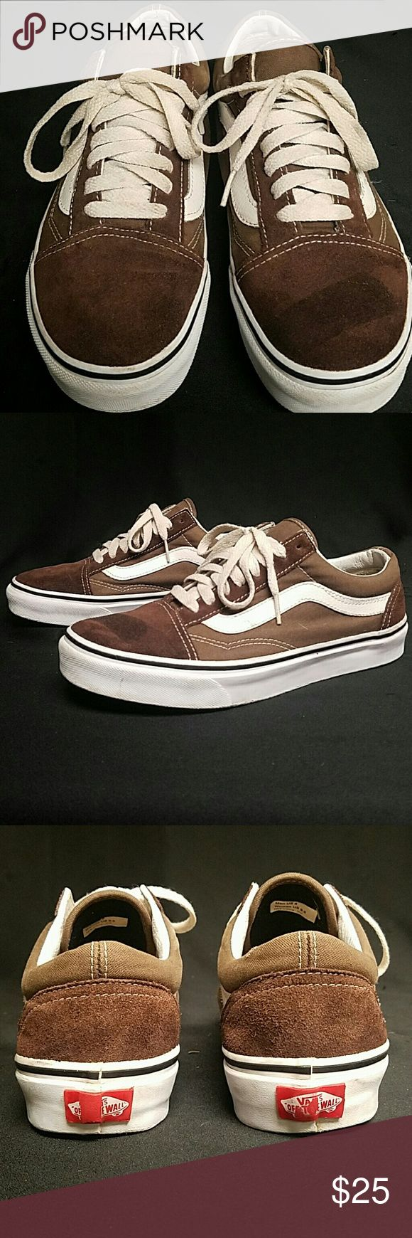 Vans Old skool Size 8 Men Excellent Condition! Up for sale is a pair of Vans Old Skool Shoes Size 8 Men All Suede BARELY WORN With new laces these shoes will look Brand New. Ships same day, guaranteed. Vans Shoes
