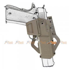 Army Force Polymer Hard Case Movable Holsters for Marui, WE 1911 Airsoft (DE) - AirsoftGoGo
