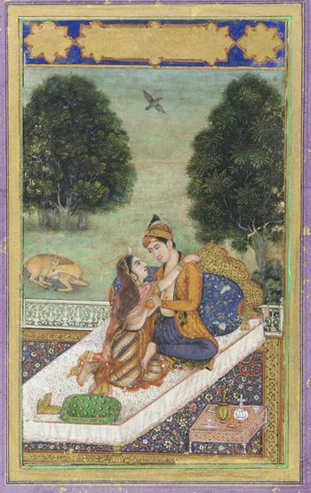 37 best l is for the way you look at me images on pinterest lovers on a terrace late 18th century mughal dynasty color and gold on sciox Gallery