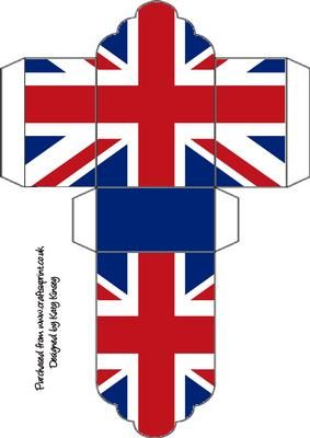 Union Jack free printable box template