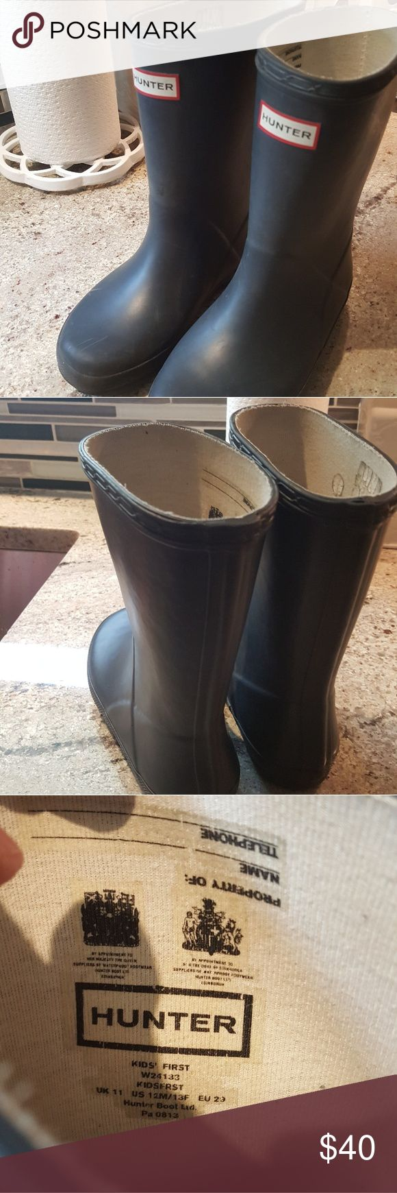Hunter kids rain boots Hunter kids rain boots size 12 Hunter Shoes Rain & Snow Boots