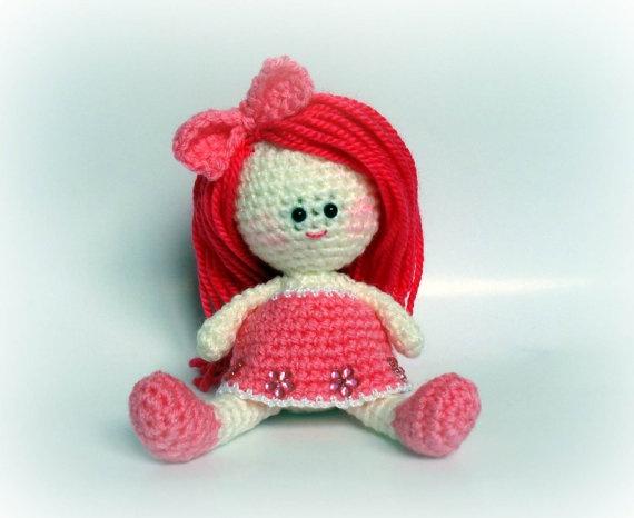 Amigurumi Bee Girl : Cute Crazy Pink Bee - Crochet Amigurumi Bee, Gift for your ...