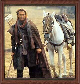 Robin Hood - Kevin Costner - he had a terrible accent but he was a nice looking Robin!