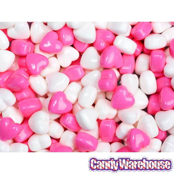 Pink & White Candy Hearts: 10-Ounce Bag