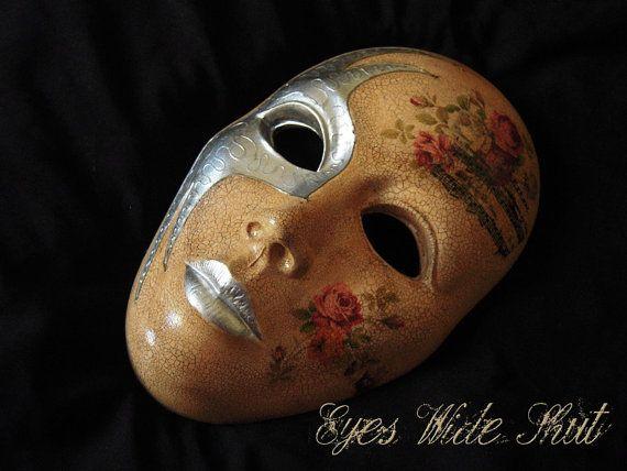 Mask 'Otello' carnivale venetian flowers by EyesWideShutFactory