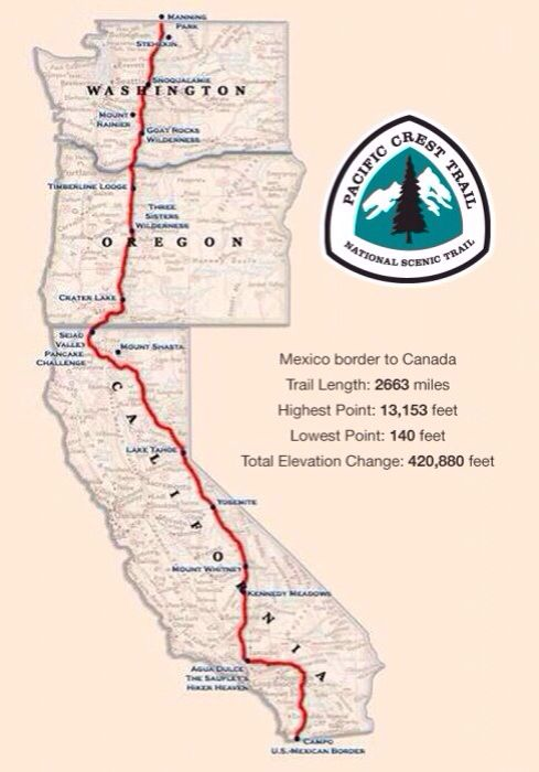 Pacific Coast Trail - I think it'd be fun to have the hikers do the Portland-Seattle leg while the others do their own exploring from the Mystery Machine.