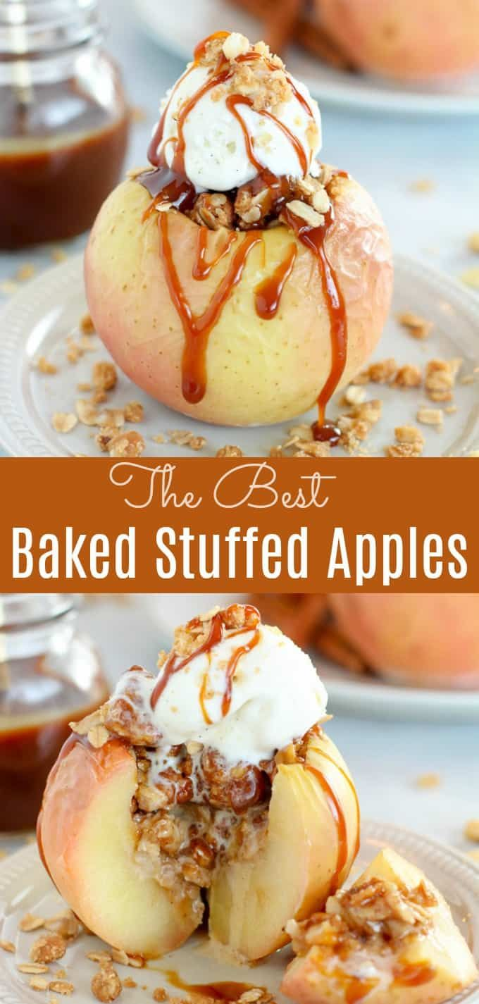 Baked Apple Recipe – Tender baked apples stuffed w…