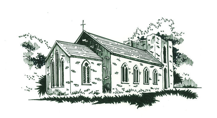 St David's Church Naas- heritage Leaflet series illustration.