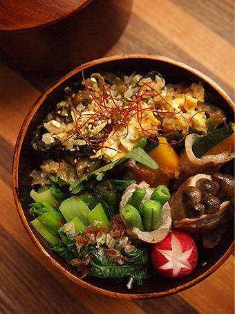 今日のお弁当は、高菜チャーハンとか肉巻きとか。 by Rouさん | レシピ ...