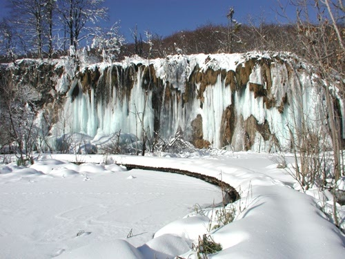 Plitvice in the winter.