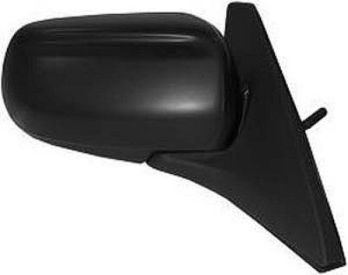 2003 Mazda Protege 5 Right Passenger Side Manual Door Mirror Black Textured/Paint To Match Ma1321129