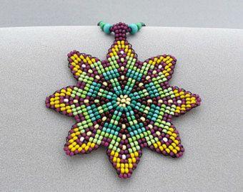 Flor de collar semillas cuentas Mandala Mandala con cuentas