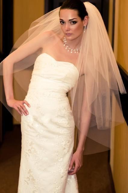 Ivory white New Wedding Wedding Formal dress Fitting Veil