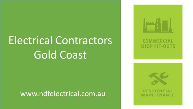 NDF Electrical Contractors on the Gold Coast are a completely authorized and proficient organization that have completely loaded administration vehicles. We are prepared to complete any 24 hour electrical administration work you may have, be it the outline, supply and establishment of lighting , repairs and so on. For More Details Visit us: http://www.ndfelectrical.com.au/