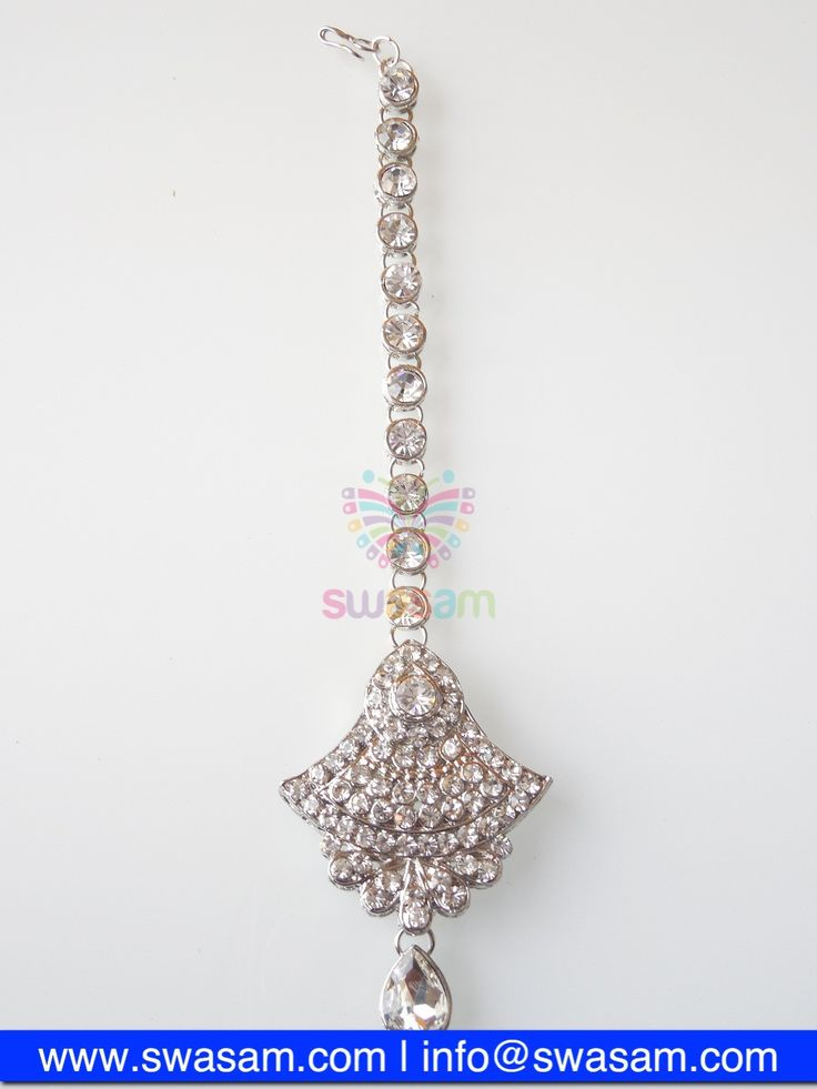 Indian Jewelry Store | Swasam.com: Tikka with Perls and White Stones - Tikka - Jewelry Shop to Buy The Best Indian Jewelry  http://www.swasam.com/jewelry/tikka/tikka-with-perls-and-white-stones-1342.html?___SID=U  #indianjewelry #indian #jewelry #tikka