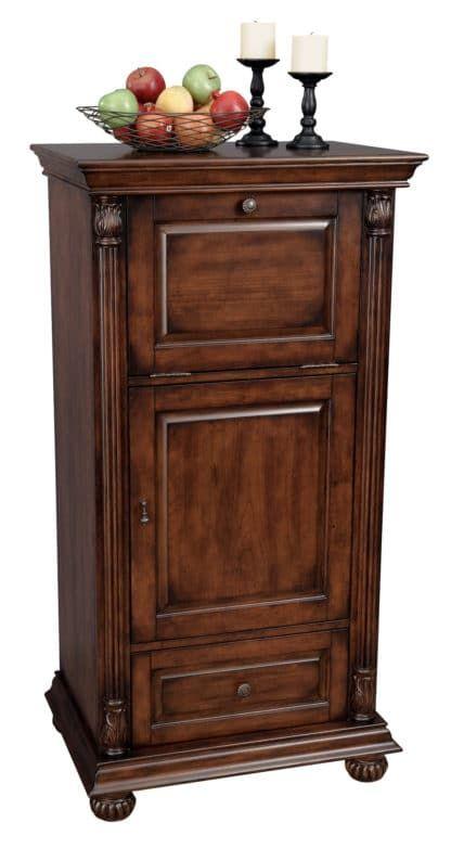 Cognac Wine Bar Cabinet By Howard Miller Sku 695078 Closed