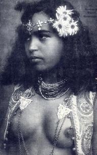 vintage post card, tahiti