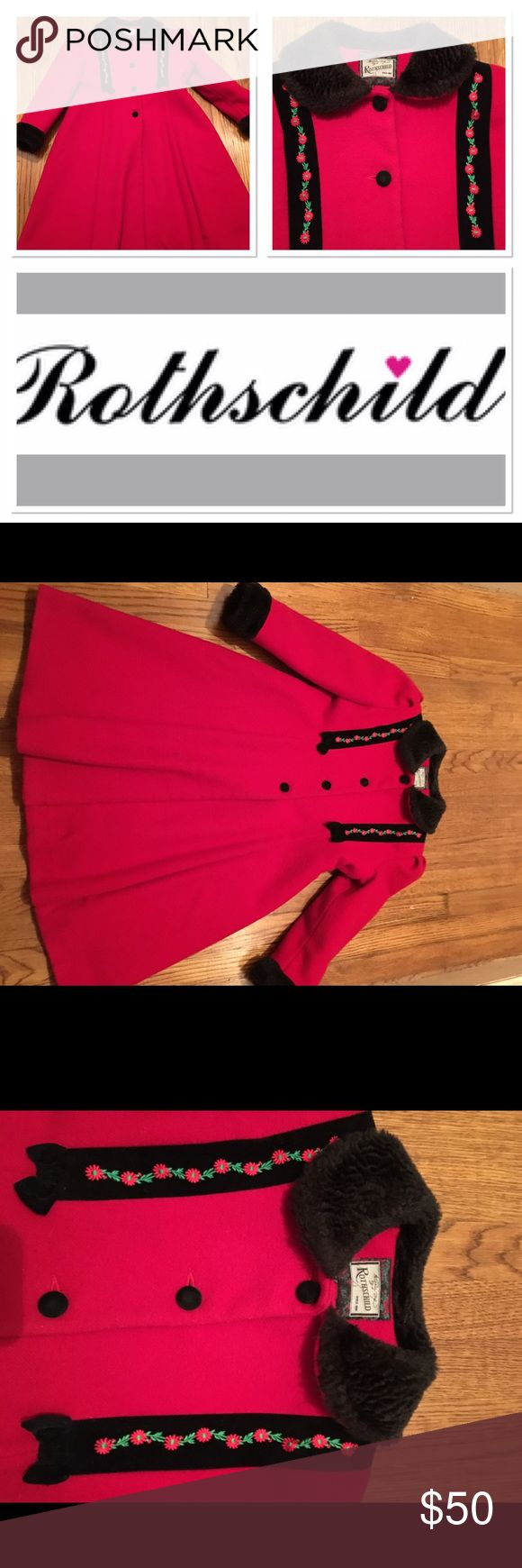 Rothschild beautiful red jacket Size 6X girls would look great for the holidays Rothschild Jackets & Coats Pea Coats