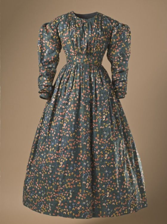 Woman's Day Dress  Europe, circa 1836  Costumes; principal attire (entire body)  Cotton plain weave  Center back length: 47 1/2 in. (120.65 cm)  Purchased with funds provided by Suzanne A. Saperstein and Michael and Ellen Michelson, with additional funding from the Costume Council, the Edgerton Foundation, Gail and Gerald Oppenheimer, Maureen H. Shapiro, Grace Tsao, and Lenore and Richard Wayne (M.2007.211.670)