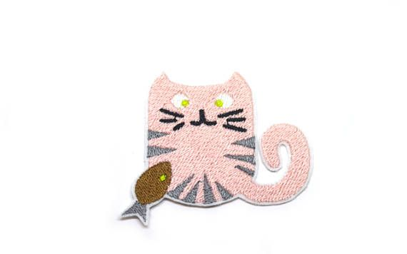 Girl Cat Patch Iron On  Applique Embroidered Patches Machine