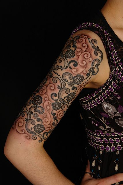 lace tattoos | Lace Tattoo on Laura 2 | Flickr - Photo Sharing!