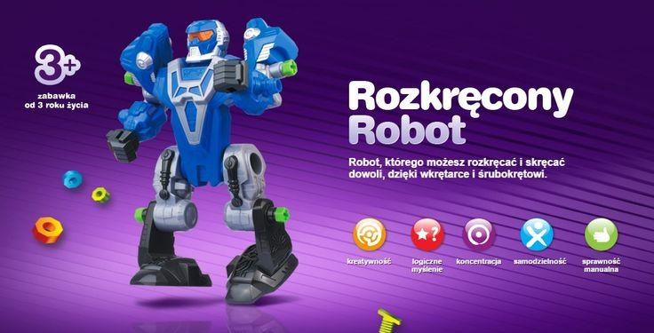 Robot, którego możesz rozkręcać i skręcać  dowoli, dzięki wkrętarce i śrubokrętowi.