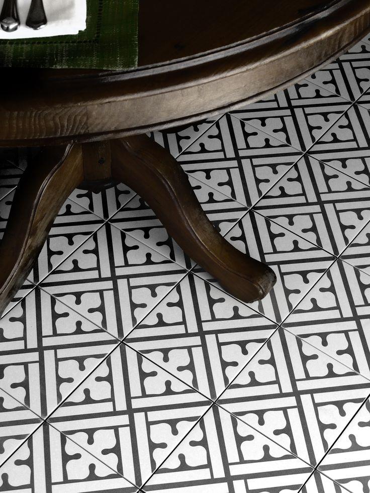 Marockanskt kakel Konradssons Kerion classic noir/B decor 20x20 cm Fraktfritt! | Stonefactory.se