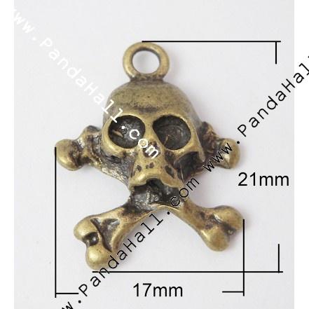 Metal Alloy Pendants PALLOY-A14744-AB-1