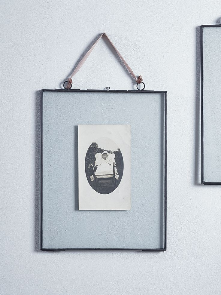 NEW Delicate Hanging Glass Frame - Black