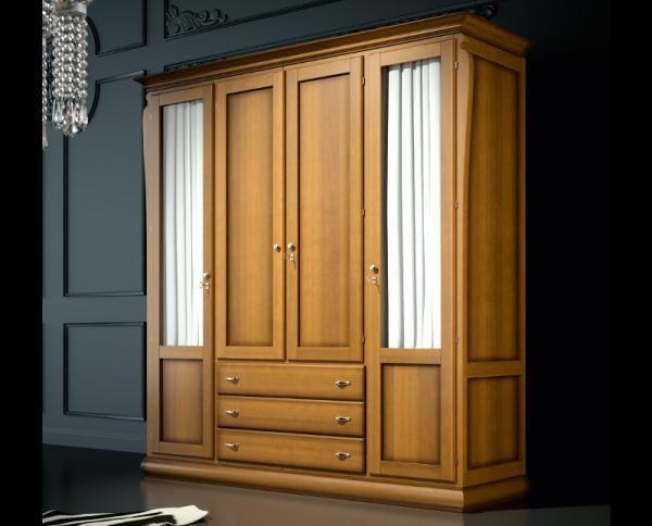 Grupo Seys Mediterraneo solid wood wardrobe in dark honey.  #modernfurniture #interiordesign #home #modernhome #furniture #interiors #woodfurniture