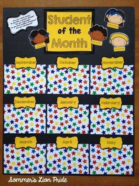 Make Your Own Student of the Month poster!