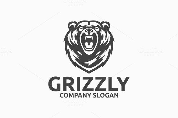 Grizzly Bear Logo by @Graphicsauthor