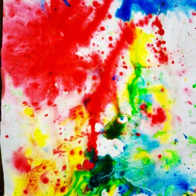 Water paint art ( children's kickstart .com!
