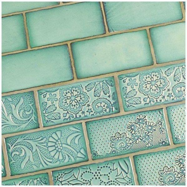 Antigua 3quot X 6quot Ceramic Tile In Special Lava Verde