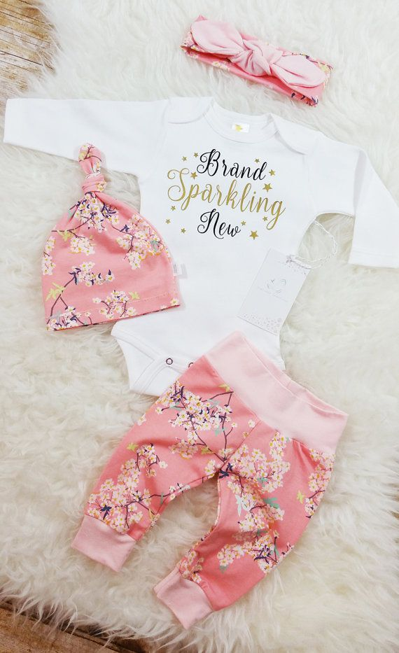 Brand Sparkling New Baby Girl Coming Home by LLPreciousCreations
