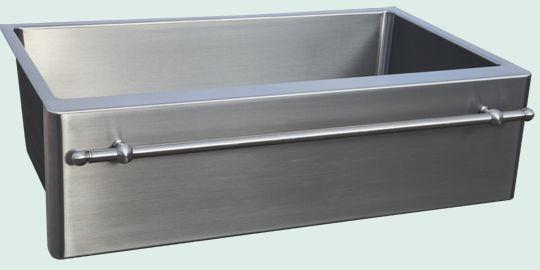 Kitchen Sinks - Stainless Kitchen Sinks- Towel Bars Stainless Kitchen Sinks - New Item Grain Finish & Towel Bar # 4845