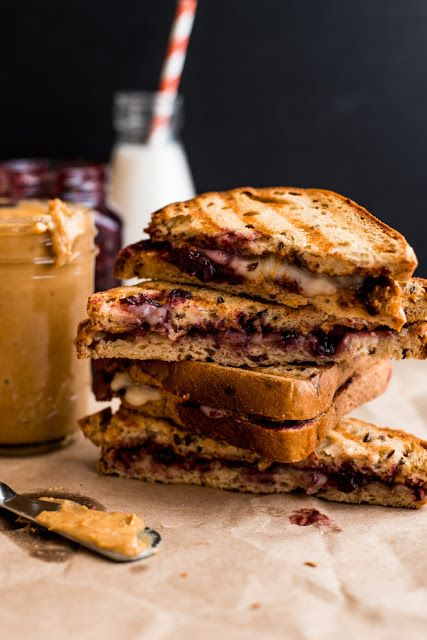 The peanut butter and jelly sandwich is a childhood favorite. If you love pb&j, try these gourmet peanut butter and jelly sandwiches. Brie Sandwich, Pb And J Sandwiches, Sandwich Recipes, Pb And J Recipe, Recipe For Mom, Peanut Butter Jelly Sandwich Recipe, Grilled Cheese Recipes, Pepperoni Recipes, Comfort Food
