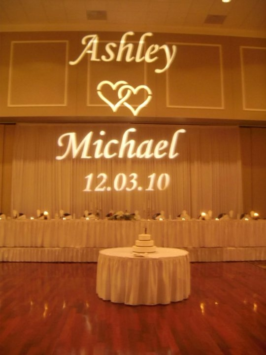 Wedding Gobo Projection, Monogram Lighting, Name In Lights