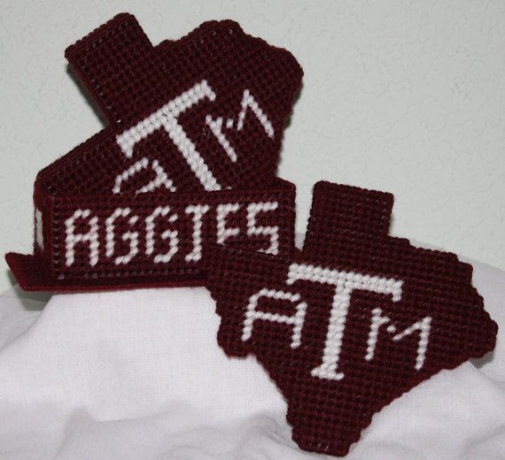 1026 Texas A University Aggies Coasters by CraftsbyRandC on Etsy, $12.95