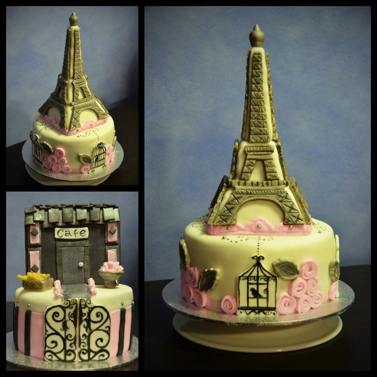 Paris themed cake for my niece, Amber. x