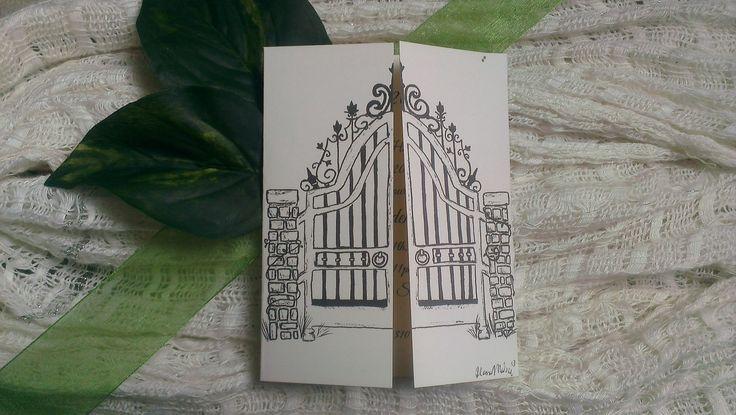 Iron gate invitation from Secret Garden themed Prom!