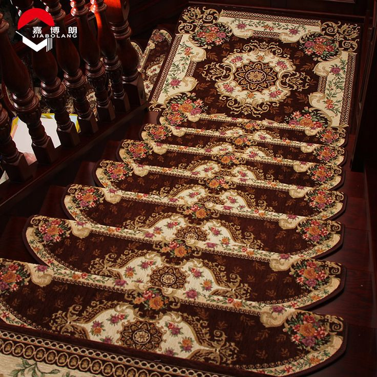 JiaboLang Style 165 Stair Carpet Europe Embroidered Anti Slip Soft Rugs For  Stair Mat Skid